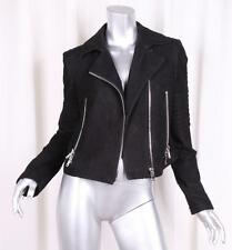 J BRAND Womens Black Lamb Leather Suede Moto Motorcycle Biker Jacket S NEW NWT