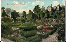 SCARCE OLD POSTCARD - LEVENS HALL & GARDENS near KENDAL - CUMBRIA 1907