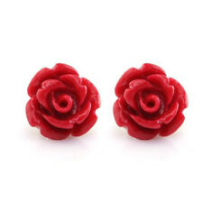 Rose Flower 1 Pair Resin Women Lady Ear Stud Charm Earrings Jewelry Gift