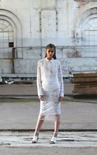 MANNING CARTELL White Lace Front Zip Bomber Style Crop Juliet Jacket AU10
