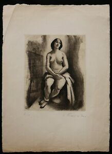 Charles PICART LE DOUX (1881-1959) Naked Female Print 7/10 Aristide Maillol