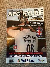 AFC FYLDE v CURZON ASHTON   FRIENDLY  2008