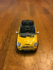 Excellent condition Yellow Kinsmart Mini Cooper S Convertible.1:28 scale