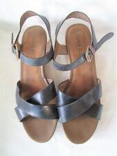 Cobb Hill Women Sandal Size 11M Black Wedge Cork Heel Cushioned Insole