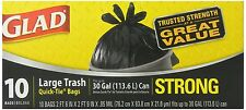 Glad Quick-Tie Trash Bags, Large, 10 Ct (Pack of 12)