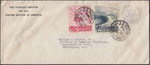 MEXICO, 1938. Foreign Service Cover C85, C90, M.C. - Washington, D.C.