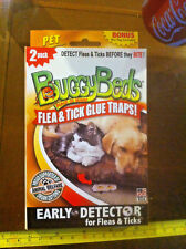 Buggy Beds 2Pack New Glue Traps For Fleas & Ticks Pet Edition Bed Litter Box