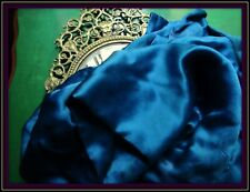 EXQUISITE LUXURIOUS SINKABLY SOFT ANTIQUE FLAPPER 20s SILK FABRIC GORGEOUS BLUE