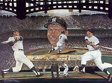 Mickey Mantle New York Yankees Power Pinstripes Lithograph by Robert Simon