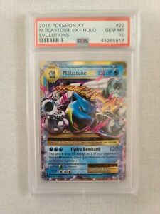 Pokemon XY Evolution Mega Blastoise EX 22/108 PSA 10