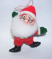 Vintage Ornament Santa Claus Dwarf Figure wearing Eye Glasses