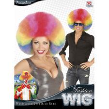 BUNTE XL AFRO PERÜCKE Karneval Clown 80er Jahre Damen Herren Kostüm Party 04684