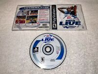 NBA Live 2001 (Sony PlayStation 1, 2000) PS1 Black Label Complete Excellent