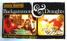 VINTAGE 1970's BACKGAMMON & DRAUGHTS  by HOUSE MARTIN - MADE IN ENGLAND