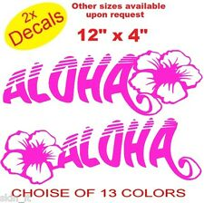 FUNNY Auto 2x ALOHA Fiore Vinile Adesivi Decalcomanie Graphics (13 colori) RIF: IP23