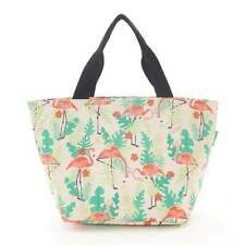 Eco Chic - Beige Flamingo Print - Insulated Cool Lunch Bag