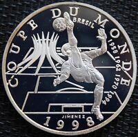 FRANCE 10 FRANCS BE ARGENT COUPE DU MONDE FRANCE 1998 BRESIL