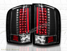 2007-2013 CHEVY SILVERADO TAIL LIGHTS LED BLACK NEW 1500