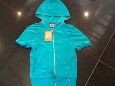 "NWT Juicy Couture New & Gen. Ladies Small Green Velour Hoody With ""J"" Pull"