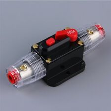 Car Audio 100/80-Amp Circuit Breaker Manual Reset Switch Agu Fuse Holder A9
