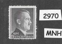 #2970    Very Nice MNH 2RM Adolph Hitler Third Reich stamp / 1942-1944 /  Sc525a