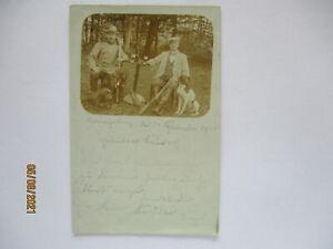 Ostpreußen, Jäger, Fotokarte 1908 Bahnpost Königsberg - Allenstein