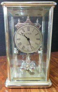 Vintage Danbury Clock Co. Quartz Rectangular Wedding Anniversary Clock