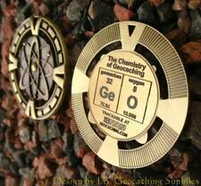 "GeO - Chemistry of Geocaching Geomedal Geocoin (2.5"", Antique Gold Colour)"