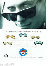 PUBLICITE ADVERTISING 096  1994  Vuarnet  lunettes solaires Place Rouge