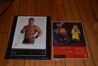 WWF WWE AUTOGRAPHED CHRIS BENOIT & Unlimited Figure
