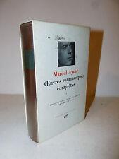 Narcel Aymé: Opere complete vol. I Oeuvres completes 1989 La Pleiade ex libris