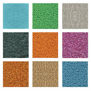 Miyuki Japanese Seed Beads Round Rocailles Duracoat Opaque, Galvanized Colors