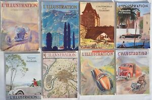 """L'Illustration"" Collection de 8 Numéros sur L'Automobile de 1928 à1941"