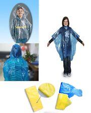 Poncho Impermeabile bambino Monouso Trasparente Tascabile con Cappuccio Pioggia