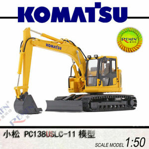 KOMATSU PC138USLC-11 1:50 Tracked Excavator First Gear Vehcile Truck Model Toy