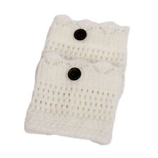 1Pair Women Winter Leg Warmer Button Crochet Boot Knit Socks Topper Cuff Newular