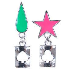 Anime Cosplay Earrings Stars Teardrop Poker Earring Stud Jewelry Accessorie END