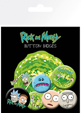 Official Rick and Morty 10x15cm Character Button Badge Set - Pack of 6