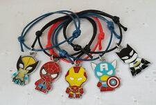 5 Superhero Friendship Bracelets Boys Marvel Party Bag Filler Gift FREEPOST