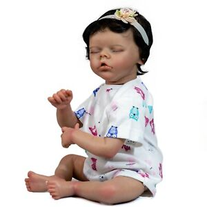 "18"" 45CM Sleeping Reborn Baby Doll Baby Girl Doll Cloth Body"