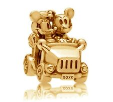 Genuine PANDORA Disney Mickey & Minnie Vintage Car Charm 14K Gold Vermeil 797174