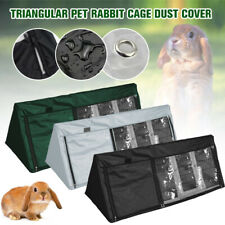 Triangle Bunny Hutch Cover Outdoor Waterproof Rabbit Crate Cover Cage Dust Cover