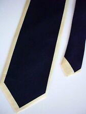 "Di Maggio Men's Silk Novelty Neck Tie Navy Blue Yellow 3-7/8"" x 58"""