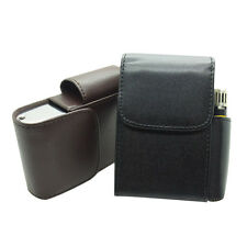 New Fashion Cigarette Hard Case Pouch Leather Holder Purse Boxes Black