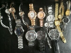 Joblot 16 Branded Watches -Seiko, Rotary, Tommy Hilfiger, Bulova, Spares/Repairs