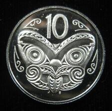 New Zealand 10 Cents 1990 Gem Proof Maori Mask QEII World Bank Coin