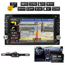 Double 2DIN Stereo Car CD DVD Player GPS Nav FM Touch Screen Radio+Backup Camera