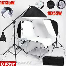 5 HEAD Photo Softbox Continuous Lighting Boom Set Studio Shooting Table KIT-NEW