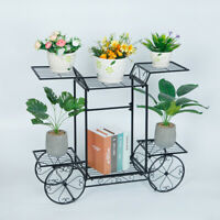 33'' 6-Layer Metal Stand Plant Flower Storage Shelf Rack Office Home Yard Decor