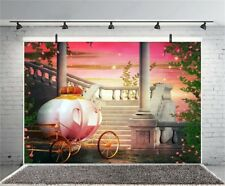 Vinyl Backdrop Carriage Castle Fantasy Backdrop Photography Backgrounds Studio